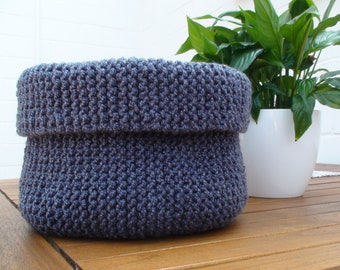 Basket - Utensilo - Stuffed basket - Knitted basket - Storage