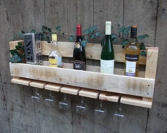 Wine rack made of pallet wood, pallet rack, pallet furniture