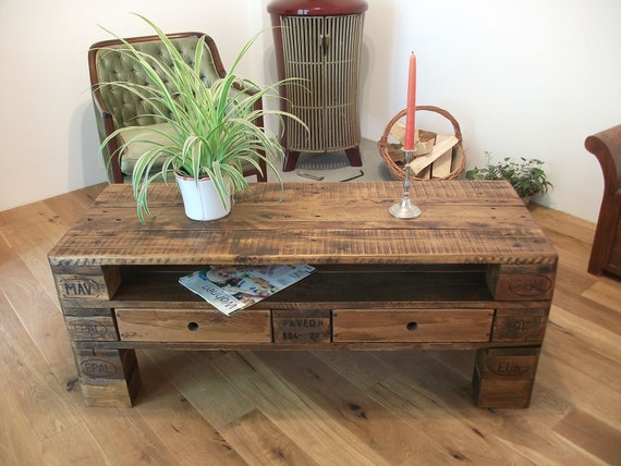 Palettentisch Palettenmobel Coffee Table Etsy