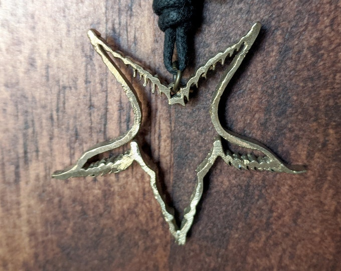 Baphomet Outline Pendant Necklace