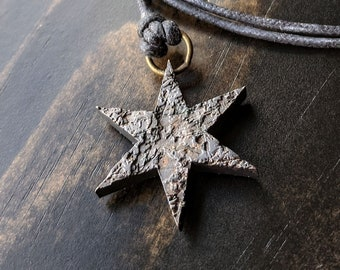 Distressed Chicago Flag Star Necklace