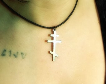 Orthodox Cross Pendant Necklace