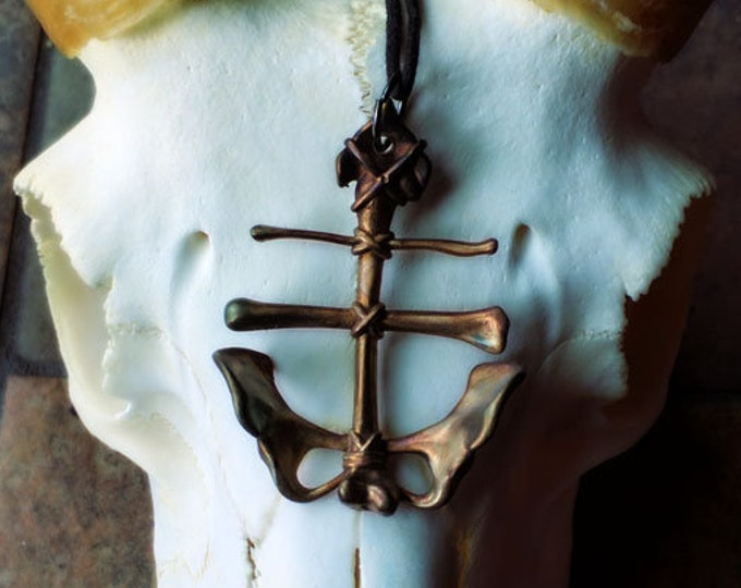 Leviathan Cross Sigil Necklace Black North Collection
