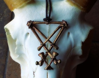 Sigil of Lucifer Necklace Black North Collection