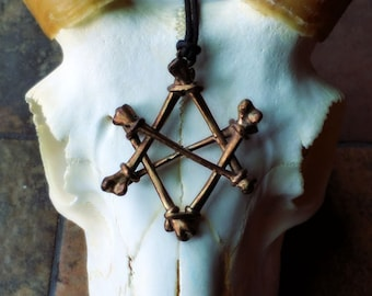 Unicursal Hexagram Sigil Necklace Black North Collection
