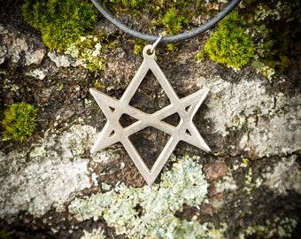 Thelema Unicursal Hexagram Pendant Necklace