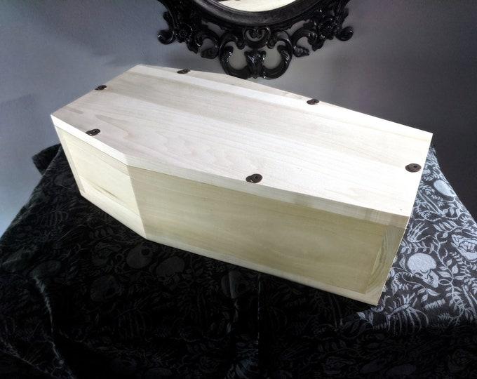 Natural Wood Pet Coffin