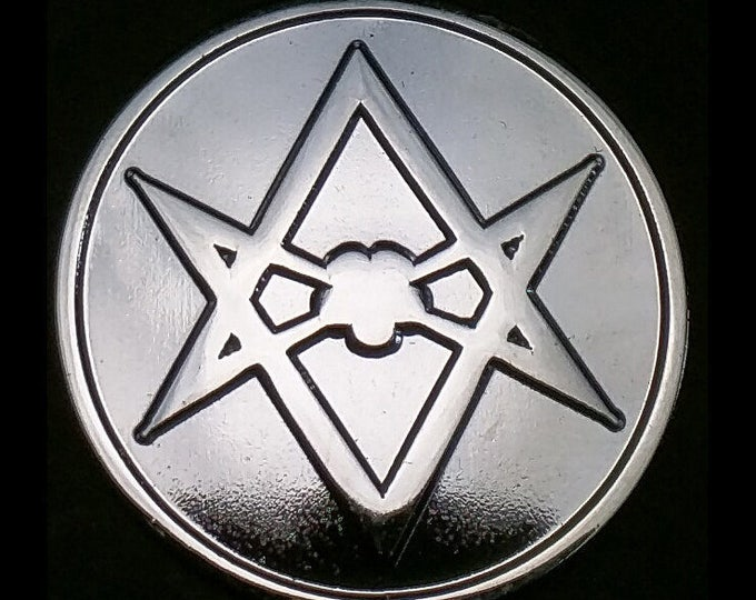 Thelema Unicursal Hexagram Sigil Lapel Pin