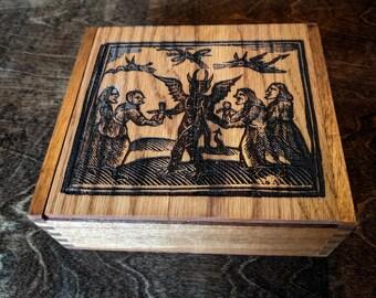 Woodcut Devil Curio Box