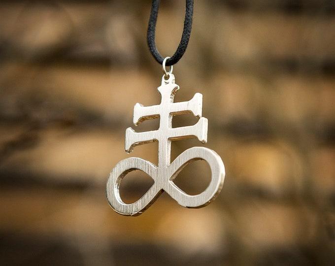Leviathan Cross Sigil/ Alchemy Sulfur Pendant Necklace