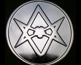Thelema Unicursal Hexagram Sigil Lapel Pin