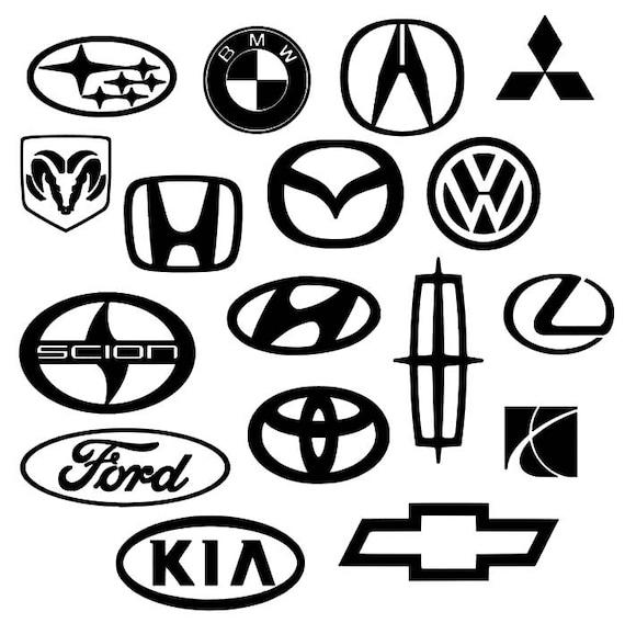 Car Company Logo Decal Scion Toyota Kia Saturn Ford Chevy Etsy