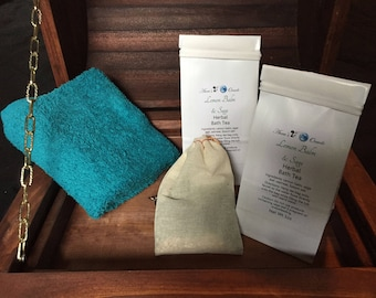Lemon Balm and Sage Herbal Bath Tea