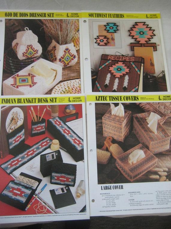 Southwest Indian Mug Insert NEW Plastic Canvas Pattern//Instructions Leaflet