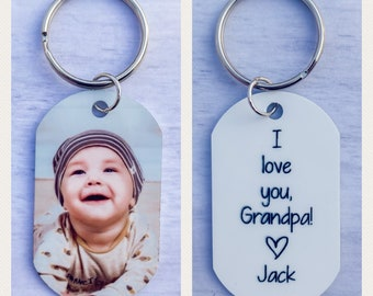 Personalized Gift for Grandpa Grandfather gift Father/'s Day Gift Personalized Keychain Outdoor Enthusiasts Fishing Buddies