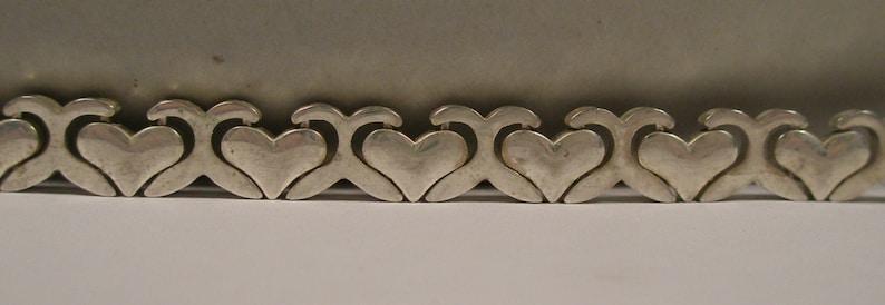 Vintage sterling silver heart bracelet
