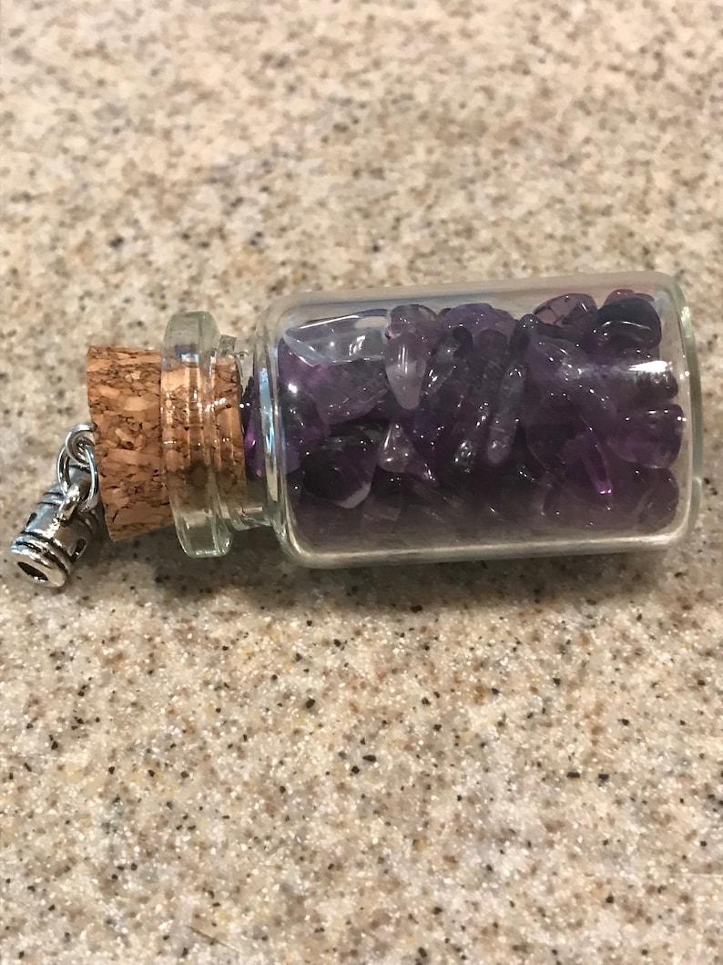 Wishing Bottle wAmethyst Stones