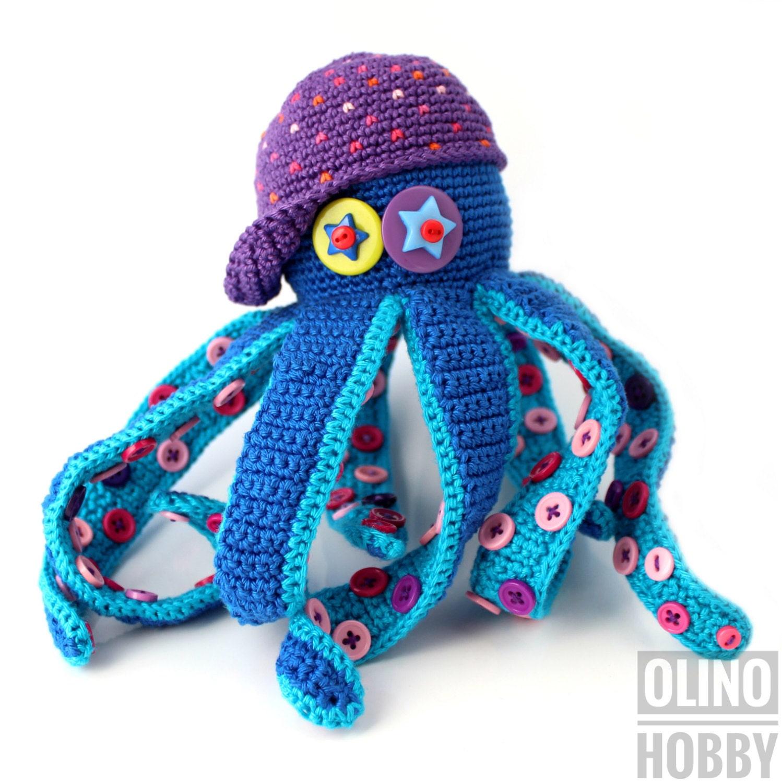 Octopus Crochet Pattern Pdf Crochet Octopus Pattern Etsy