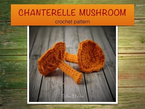 CHANTERELLE MUSHROOM Crochet Pattern PDF - Crochet mushroom pattern ...