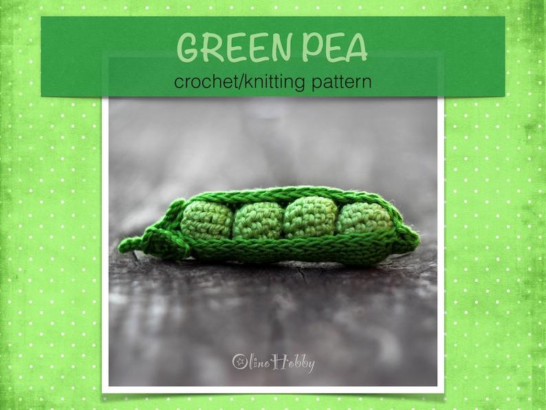 GREEN PEA Crochet Knitting Pattern PDF  Crochet green pea image 0