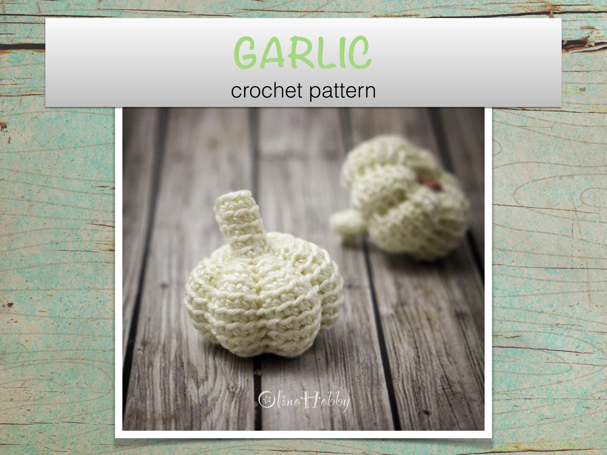 Garlic Crochet Pattern Pdf Crochet Garlic Pattern Amigurumi Etsy