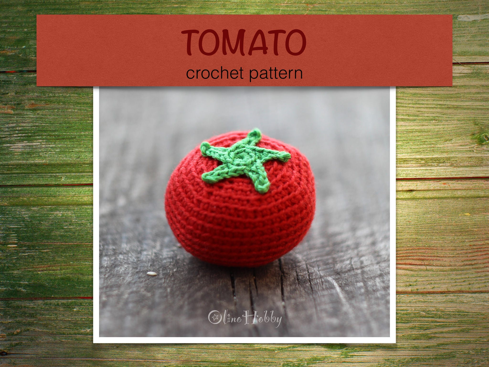 TOMATO Crochet Pattern PDF - Crochet tomato pattern Amigurumi tomato ...