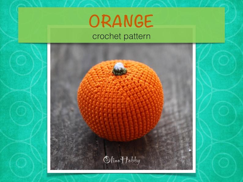 ORANGE Crochet Patterns PDF  Crochet orange pattern Amigurumi image 0