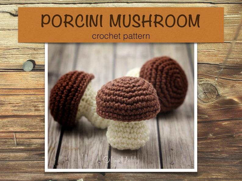 PORCINI MUSHROOM crochet pattern PDF  Crochet mushroom image 0