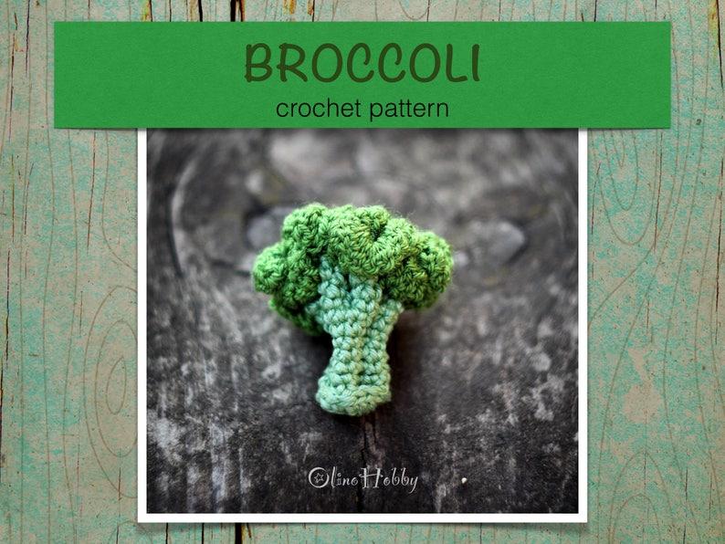 BROCCOLI Crochet Pattern PDF  Crochet broccoli pattern image 0