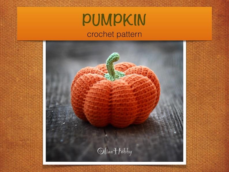 PUMPKIN crochet pattern PDF  Crochet pumpkin pattern image 0