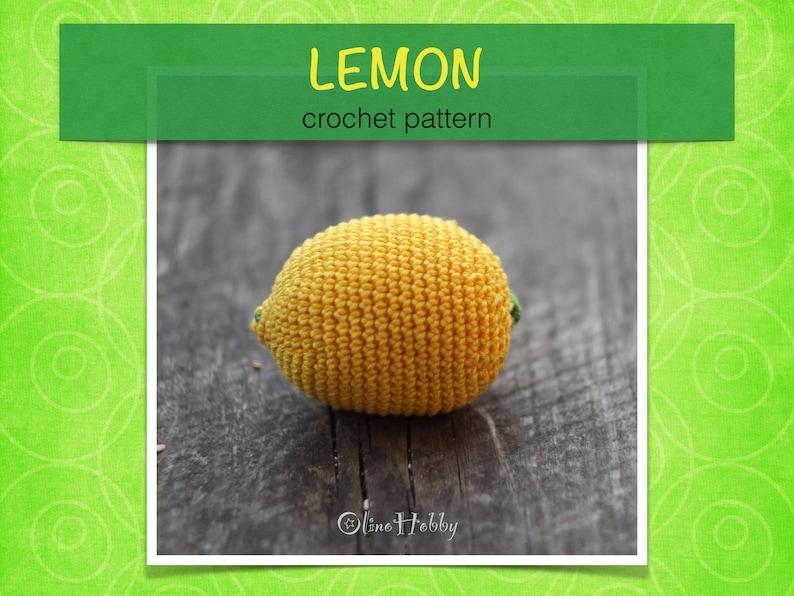 LEMON Crochet Pattern PDF  Crochet lemon pattern Amigurumi image 0