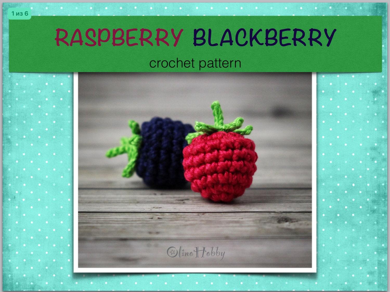 Raspberry Blackberry Crochet Pattern Pdf Crochet Blackberry Etsy