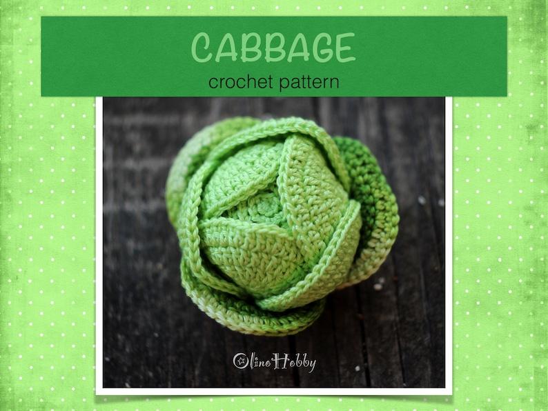 CABBAGE crochet pattern PDF  Crochet cabbage pattern image 0