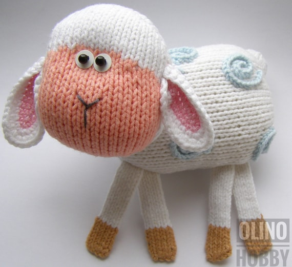 Lamb Knitting Pattern Pdf Knitted Lamb Pattern Animal Toy Etsy