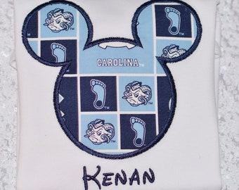Boys UNC TAR_HEELS Disney Vacation shirt! Mickey Silhouette Personalized