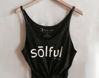 8.2 Midnight Mineral Wash Slouchy Festival Tank. Yoga. Dance. Chill. Sol. Zen. Boho. Love