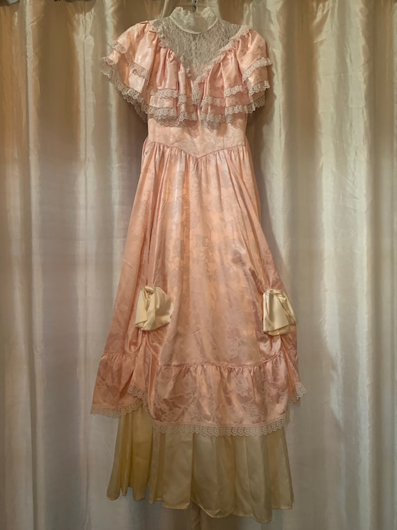 Gunne Sax Satin and Lace Gown