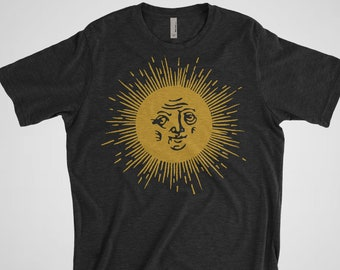 0bff6509b CLEARANCE Sun Woodcut - Men's Poly/Cotton Graphic Tee | S-2XL