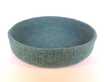 Felted Bowl in Sea Green 20 cm