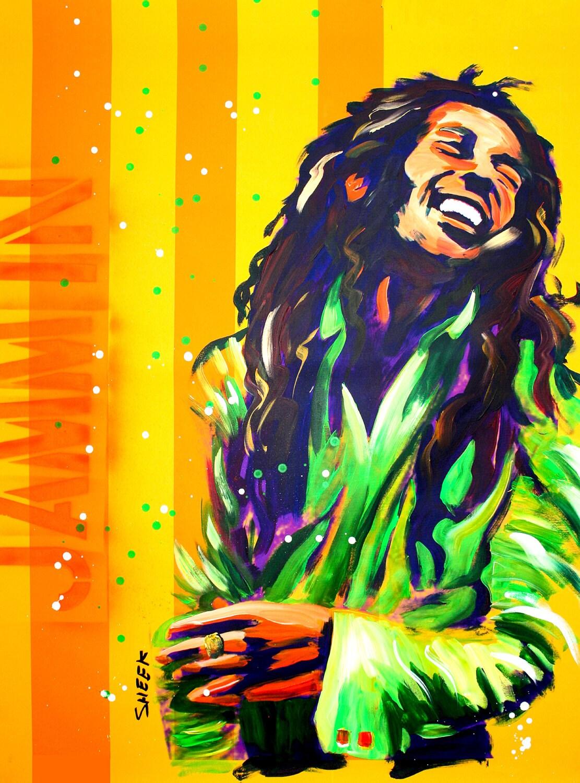 Bob MarleyPop ArtCanvas Art 20x27 MusicJazzBlack | Etsy