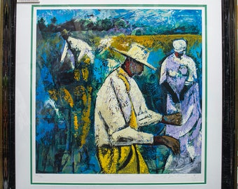 From Whence We Came By The Twins Lynn,Jerry and Terry,Remarque, Limited Edition Serigraph 325 hand enhanced.