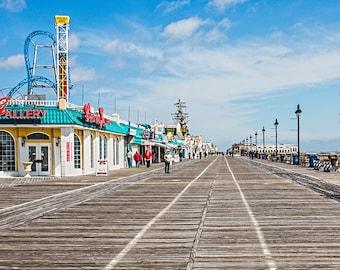 Board walk 3 At Ocean City ,NJ ,Canvas Art,photo,Wall Art(20x40)