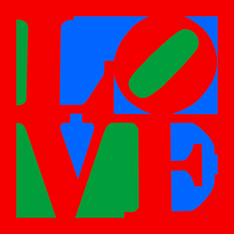 Love Pop Art on canvas 20x20Philadelphia Love Canvas | Etsy
