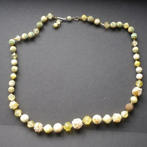 Triple Strand Plastic Beaded Necklace from Hong Kong Fun /& Charming