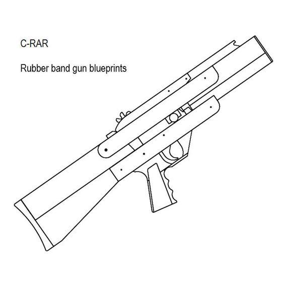 blowback magazine fed rubber band gun plans etsy