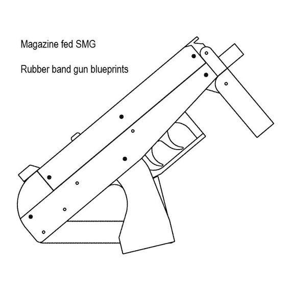 magazine fed rubber band gun plans etsy