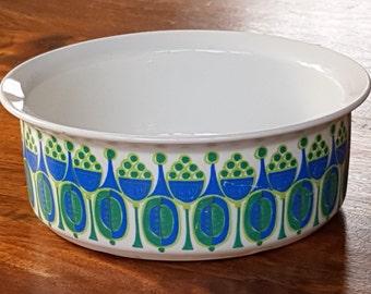 Fabulous Figgjo fajanse bowl. Turi-design glazed ceramic bowl, in Granada, designed by Turi Oliver, and produced in Norway, 1970 to 1975