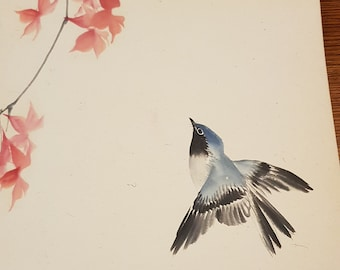 Antique Chinese Painting of A Bird in Flight