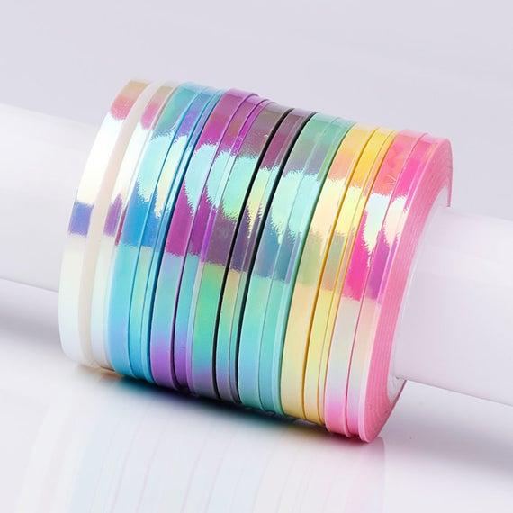 Striping tape Aurora effect 1 mm 2 mm 3 mm