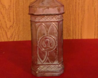 Rare 1900's pink alcohol bottle